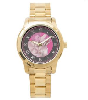 Bronzino Venus Cupid  Unisex Oversized Gold Bracelet Watch by Neoclassical Pop Art