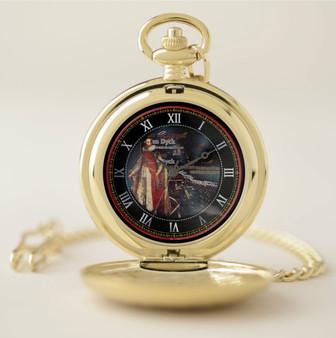Van Dyck King Henry Gold Pocket Watch  by Neoclassical Pop Art