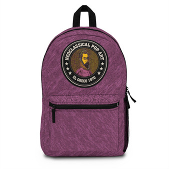 On Sale Collectible El Greco Portrait of a Poet Backpack by Neoclassical Pop Art