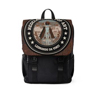 On Sale Da Vinci  All Seeing Eye Unisex Casual Shoulder Backpack by Neoclassical Pop Art
