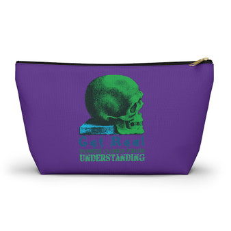 On Sale Da Vinci Purple Pop Skull Accessory Pouch  by Neoclassical Pop Art