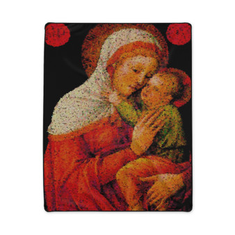 On Sale Duccio Madonna and Child Fleece Blanket by Neoclassical Pop Art