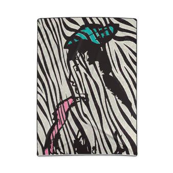 On Sale Manet  Zebra Woman Fleece Blanket by Neoclassical Pop Art
