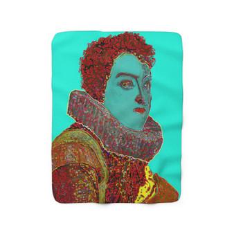 On Sale Rubens Duke of Mantua Portrait Sherpa Fleece Blanket  by Neoclassical Pop Art