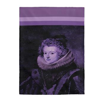 On Sale Velazquez Infanta Dona Maria Velveteen Plush Blanket by Neoclassical Pop Art
