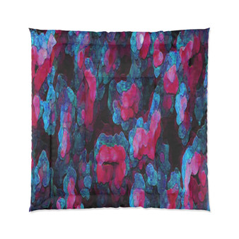 On Sale Collectible Abstract Blue Pink Comforter by Neoclassical Pop Art