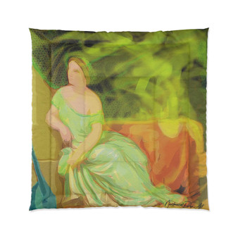 On Sale Collectible Lady & The Mandolin Comforter by Neoclassical Pop Art