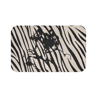 On Sale Abstract Duke of Milan Horse Riding  Zebra Bath Mat by Neoclassical Pop Art