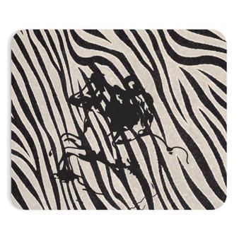 On Sale Dan Vinci Duke of Milan Horse Black & White Zebra Mousepad by Neoclassical Pop Art