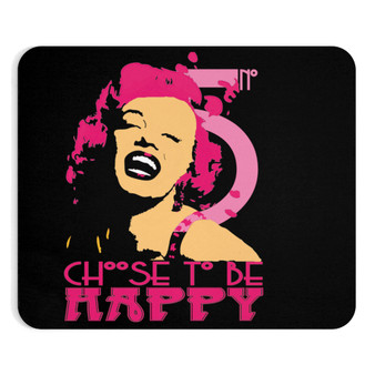 On Sale Marylin Monroe Choose to be Happy Mousepad by Neoclassical Pop Art