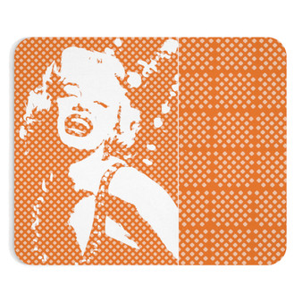 On Sale Monroe J'adore Peach & White Mousepad by Neoclassical Pop Art