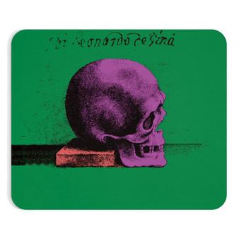 On Sale Leonardo Da Vinci green, purple, orange Pop Art Skull  Mousepad by Neoclassical Pop Art
