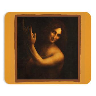 On Sale Leonardo Da Vinci Saint John the Baptist Mousepad by Neoclassical Pop Art