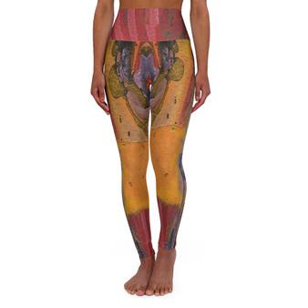On Sale Sandro Botticelli's Venus High Waisted Yoga Leggings by Neoclassical Pop Art