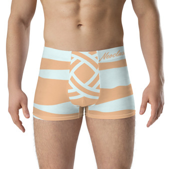 On Abstract Light Peace and Pale Green Boxer Briefs by Neoclassical Pop Art