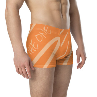 'Be The One' Orange Peach Boxer Briefs by Neoclassical Pop Art