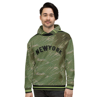 On Sale NY Olive Green New York Seal Unisex Hoodie by Neoclassical Pop Art
