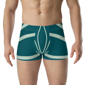 On Sale Eden's Green Leaf Boxer Briefs by Neoclassical Pop Art