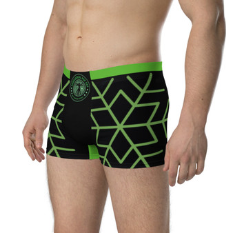On Sale Christmas Time Green Boxer Briefs by Neoclassical Pop Art
