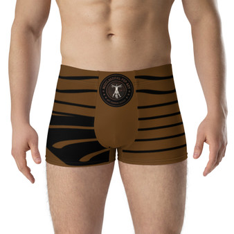 On Sale Brown and Black Wave Boxer Briefs by Neoclassical Pop Art