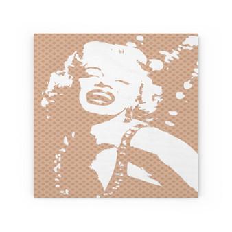 On Sale Marylin Monroe J'adore Pop Portrait Orane White Wood Canvas by Neoclassical Pop Art