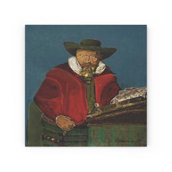 On Sale  Van Der Helst Portrait of a man Print on  Wood Canvas by Neoclassical Pop Art