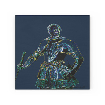 On Sale Van Dyck Portrait of a Man in Armor Print on Wood Canvas by Neoclassical Pop Art