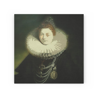 On Sale Rubens Isabella Clara Eugenia Portrait Print on Wood Canvas  by Neoclassical Pop Art