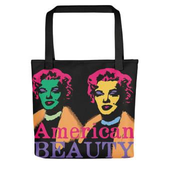 Marilyn Monroe American Beauty Tote Bag for sale online and da vinci neoclassical pop art vitruvian man for sale online by Neoclassical pop art online brand store