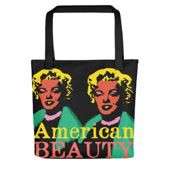 Orange pink green yellow Marilyn Monroe American Beauty Tote Bag for sale online and da vinci neoclassical pop art vitruvian man for sale online