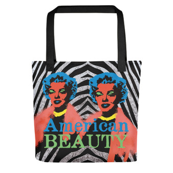 Yellow Turquoise Marilyn Monroe American Beauty Neoclassical pop art  Tote Bag for sale online