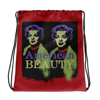 sexy Marilyn Monroe American Beauty red green purple light blue Neoclassical Pop Art Drawstring bag