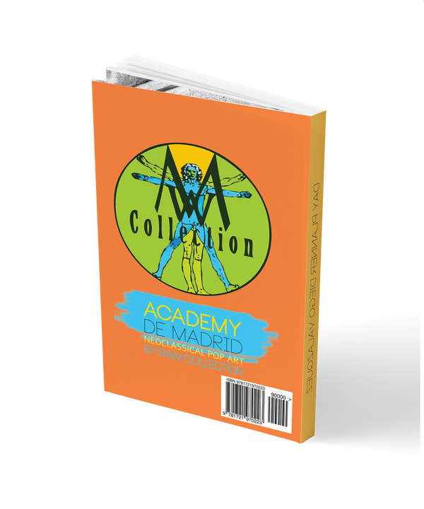 2018 19 academic monthly planner Agenda book.  Hourly schedule Agenda with to do list, tasks, notes, meal & workout & Insight diary. Monthly overview calendar. Goal Setting map. A layout designed to increase Self-awareness, productivity and Time Management - Collectible Valazquez neoclassical pop art cover.