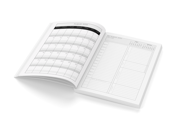 Van Dyck Day Planner 2019 with monthly overview by BWM Collection