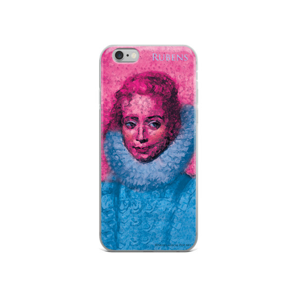 buy Neoclassical pop art Pink and blue rubens clara serena child portrait  iphone cases