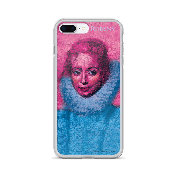 for sale Neoclassical pop art Pink and blue rubens clara serena child portrait iphone cases