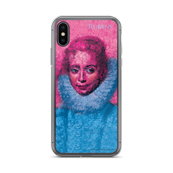 buy online Neoclassical pop art Pink and blue rubens clara serena child portrait  iphone cases