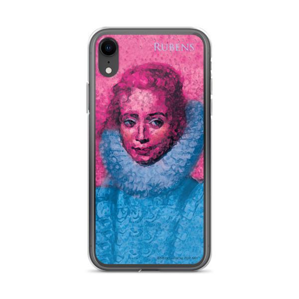 cute Neoclassical pop art Pink and blue rubens clara serena child portrait  iphone cases
