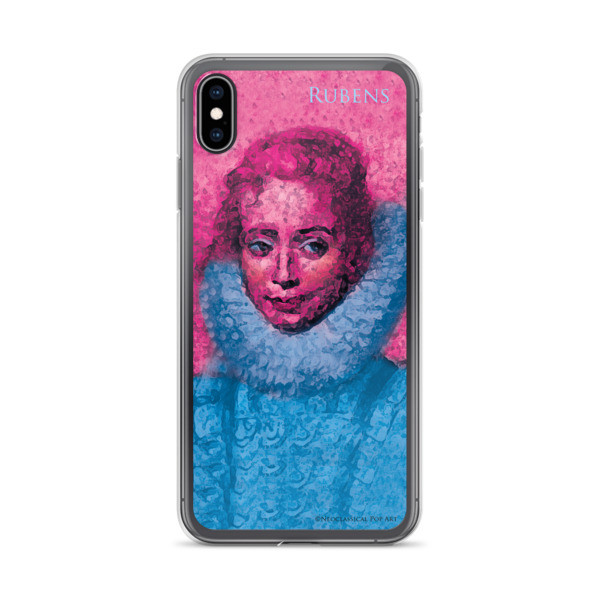 designer Neoclassical pop art Pink and blue rubens clara serena child portrait  iphone cases