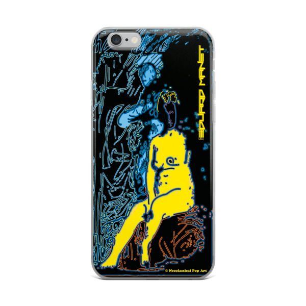 Yellow Blue Neoclassical Pop Art Eduard Manet nude iPhone cases