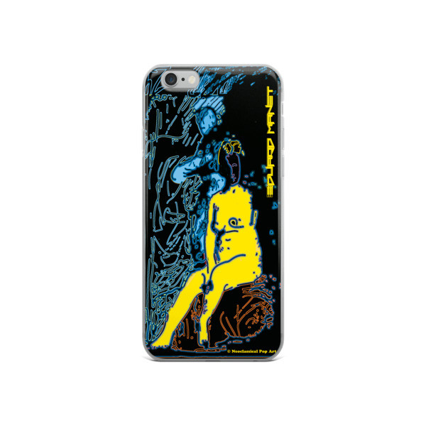 collectible Yellow Blue Neoclassical Pop Art Eduard Manet nude iPhone cases