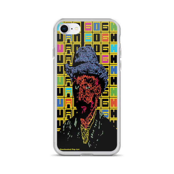 collectible van gogh grey felt hat self-portrait neoclassical pop art iphone case with words for sale in affordable price
