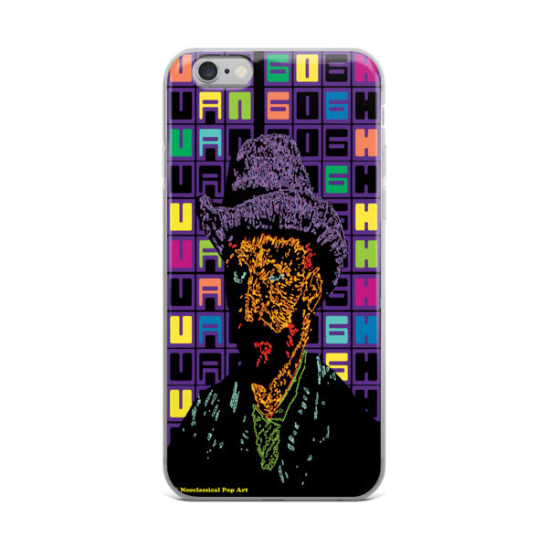 Neoclassical Pop Art Van Gogh self-portrait with grey felt hat creative iphone case