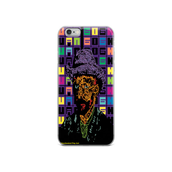 Neoclassical Pop Art Van Gogh self-portrait with grey felt hat creative iphone case  for sale