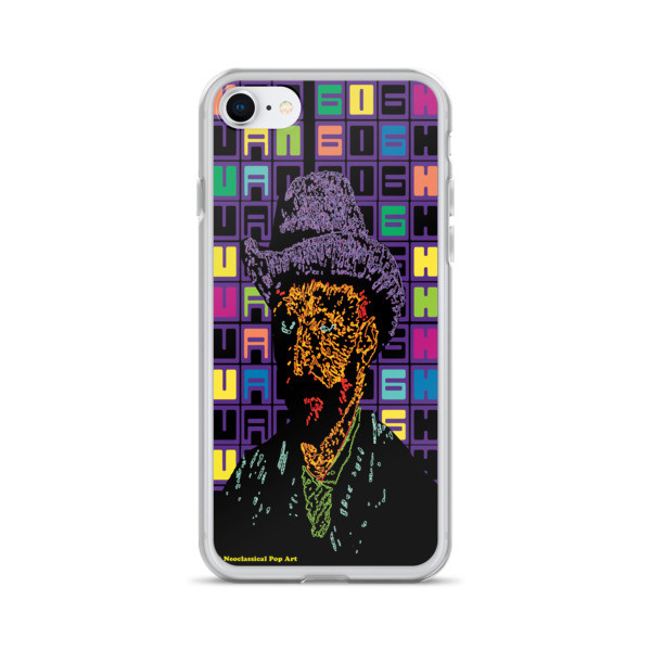 shop for Neoclassical Pop Art Van Gogh self-portrait with grey felt hat creative iphone case