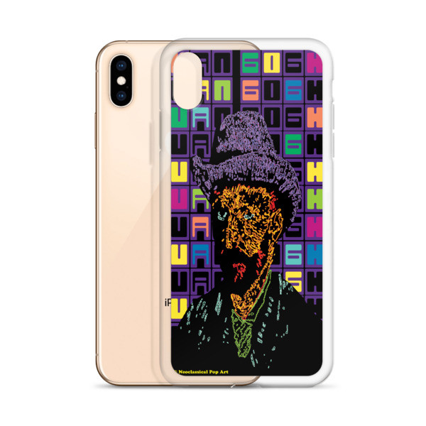 the best Neoclassical Pop Art Van Gogh self-portrait with grey felt hat creative iphone case