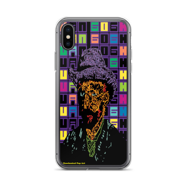 cool Neoclassical Pop Art Van Gogh self-portrait with grey felt hat creative iphone case
