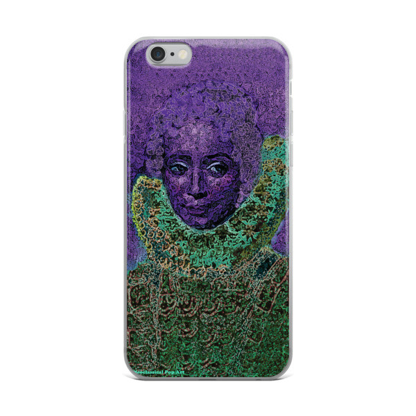 purple green neoclassical pop art iphone case featuring the best sir peter paul rubens clara serena portrait