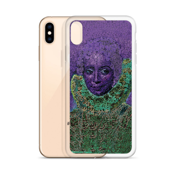 for sale purple green neoclassical pop art iphone case featuring the best sir peter paul rubens clara serena portrait