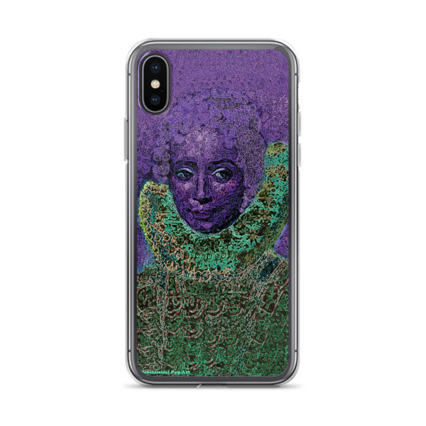 collectible purple green neoclassical pop art iphone case featuring the best sir peter paul rubens clara serena portrait for sale
